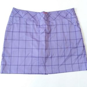 Antiqua Desert Dry Tech purple plaid golf skort